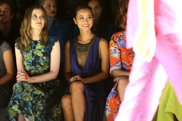 Analeigh Tipton Monique Lhuillier - Front Row - Spring 2016 New York Fashion Week: The Shows