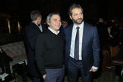 Adam Goodman (L), President of Paramount Film Group, and producer Judd Apatow attend the 'Anchorman 2: The Legend Continues' U.S. premiere after party at Cipriani 42nd Street on December 15, 2013 in New York City.