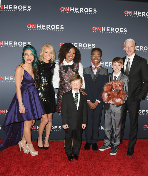 CNN Heroes 2017 - Red Carpet Arrivals [red carpet,carpet,premiere,event,flooring,red carpet arrivals,christina li,sidney keys iii,ryan hickman,kelly ripa,halie thomas,heroes,l-r,cnn,campbell remess]