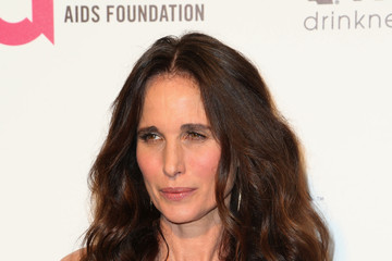 Andie MacDowell Arrivals at the Elton John AIDS Foundation Oscars Viewing Party — Part 4