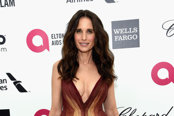 Andie MacDowell Arrivals at the Elton John AIDS Foundation Oscars Viewing Party — Part 3