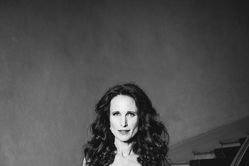 Andie MacDowell L'Oreal at the 70th Cannes Film Festival B&W - #Canniversary