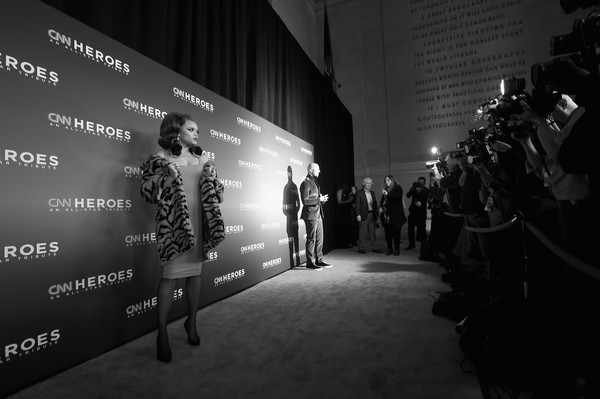 CNN Heroes 2017 - Red Carpet Arrivals [image,black-and-white,monochrome,design,photography,monochrome photography,architecture,night,style,darkness,games,red carpet arrivals,cnn heroes 2017,andra day,heroes,new york city,american museum of natural history,cnn]