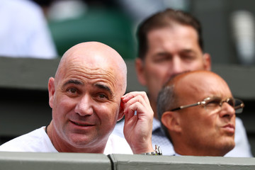 Andre Agassi Day Two: The Championships - Wimbledon 2017