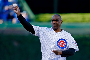 Andre Dawson Miami Marlins v Chicago Cubs