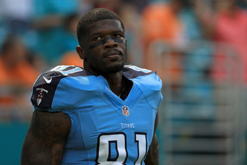 Andre Johnson Tennessee Titans v Miami Dolphins