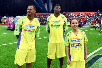 Andre Johnson Nickelodeon's Superstar Slime Showdown at Super Bowl