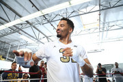 Andre Ward dances during an open media workout on June 2, 2017 in Hayward, California. Ward held a public workout in preparation for his upcoming rematch with Sergey Kovalev, whom he'll meet for a rematch on Saturday, June 17 in Las Vegas, Nevada at the Mandalay Bay Events Center.