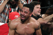 Andre Ward celebrates after winning his light heavyweight championship bout against Sergey Kovalev at the Mandalay Bay Events Center on June 17, 2017 in Las Vegas, Nevada. Ward retained his WBA/IBF/WBO titles with a TKO in the eighth round.