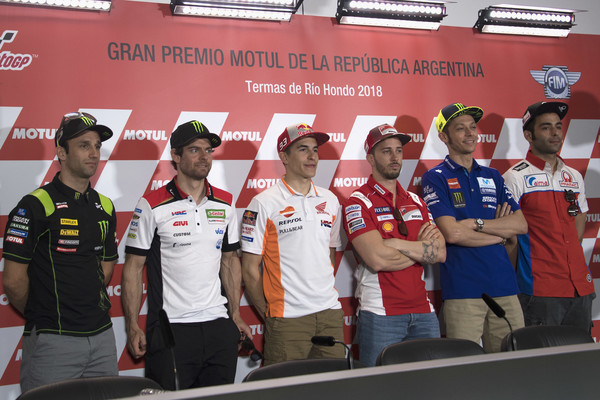 MotoGp of Argentina - Previews [previews,team,competition,championship,technology,electronic device,stage equipment,vehicle,competition event,johann zarco,cal crutchlow,motogp,l-r,argentina,italy,france,monster yamaha tech 3,lcr honda]