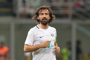 Andrea Pirlo looks on during Andrea Pirlo Farewell Match at Stadio Giuseppe Meazza on May 21, 2018 in Milan, Italy.