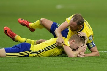 Andreas Granqvist Italy v Sweden - FIFA 2018 World Cup Qualifier Play-Off: Second Leg