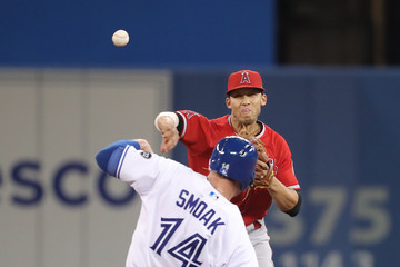 Andrelton Simmons Los Angeles Angels Of Anaheim vs. Toronto Blue Jays