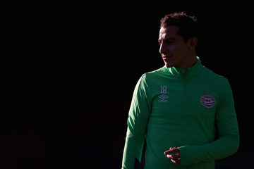 Andres Guardado PSV Eindhoven - Training & Press Conference