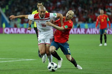 Andres Iniesta Spain Vs. Morocco: Group B - 2018 FIFA World Cup Russia