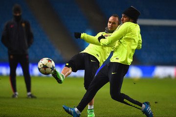 Andres Iniesta Barcelona Training Session & Press Conference
