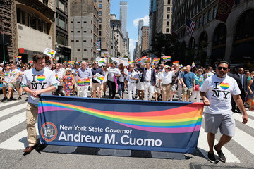 Andrew Cuomo 2017 Gay Pride March In New York City