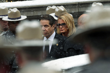 Andrew Cuomo Sandra Lee Funeral Held for Mario Cuomo in NYC