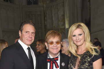 Andrew Cuomo Sandra Lee Elton John AIDS Foundation Commemorates Its 25th Year and Honors Founder Sir Elton John During New York Fall Gala - Inside