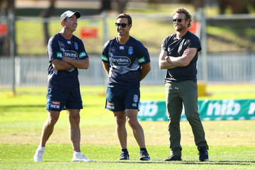 Andrew Johns New South Wales Blues Training And Media Session