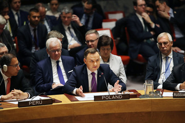Andrzej Duda President Donald Trump Chairs UN Security Council Meeting On Iran