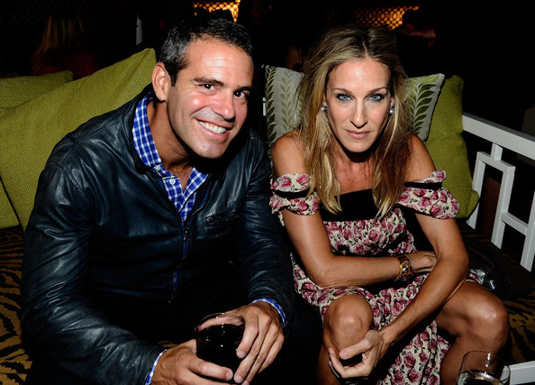 Andy Cohen Bravo's Andy Cohen and actress Sarah Jessica Parker attend the Mercedes-Benz Fashion Week Spring 2011 Official Coverage at Lincoln Center on September 12, 2010 in New York City.