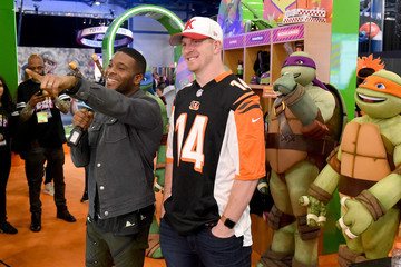 Andy Dalton Nickelodeon's Superstar Slime Showdown at Super Bowl
