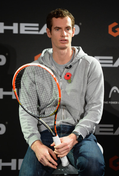 Andy Murray - Andy Murray Promotes a New Tennis Racket