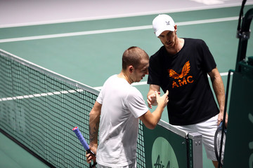 Andy Murray Dan Evans Great Britain Compete For 2019 Davis Cup