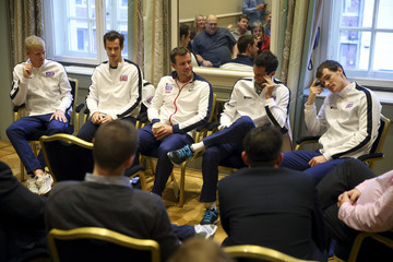 Andy Murray James Ward Great Britain Davis Cup Final 2015 Follow up Press Conference