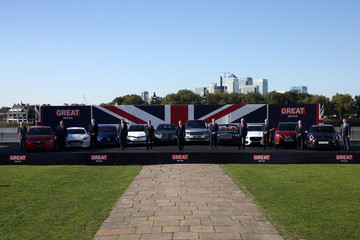 Andy Palmer British-Built Cars Line-up Before They Travel to Major Motor Show