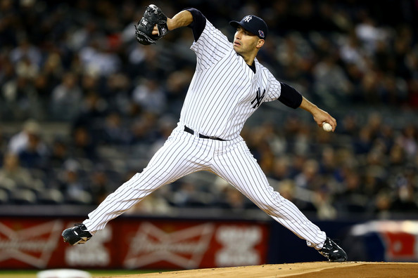 Andy Pettitte - ALCS - Detroit Tigers v New York Yankees - Game One