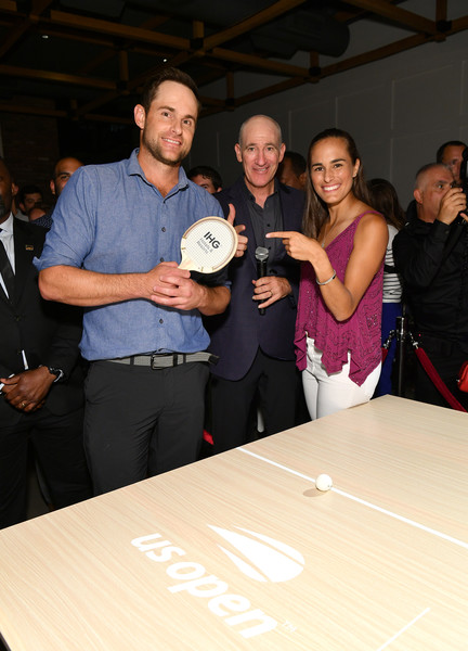 Andy Roddick, Monica Puig, And Leon Bridges At 'Legends, Unmatched' Event [leon bridges excite the crowd with an epic table tennis match and performance,event,recreation,leisure,competition,monica puig,andy roddick,trade volleys,ihg\u00e2,ihg hotels and resorts legends,ihg hotels resorts ``legends unmatched,kimpton hotel eventi,event,table tennis event]