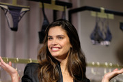 "Sara Sampaio attends as she and designer Lisa Chavy introduce ""LIVY"" at Victoria's Secret, Fifth Ave on February 12, 2019 in New York City."