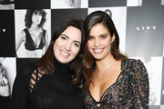 "Lisa Chavy (L) and Sara Sampaio attend as they introduce ""LIVY"" at Landmarc, West Broadway on February 12, 2019 in New York City."