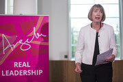 Former Deputy Leader of the Labour Party Harriet Harman introduces former Shadow Cabinet Minister Angela Eagle as she launches her bid for the Labour leadership at a press conference at Savoy Place on July 11, 2016 in London, England. Ms Eagle today formally launched a bid to challenge Labour leader Jeremy Corbyn after he lost the support of most of his MPs in a vote of no confidence.