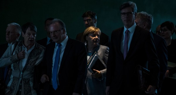 Angela Merkel Meets With Mayors Over Air Pollution