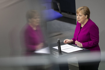 Angela Merkel European Best Pictures Of The Day - April 23