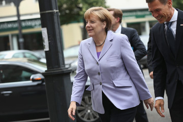 Angela Merkel German Leaders React to Greek Aid Agreement