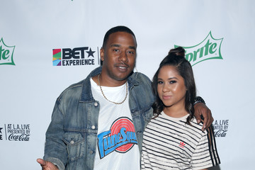 Angela Yee 2017 BET Experience - Celebrity Basketball Game Presented by Sprite and State Farm - Backstage