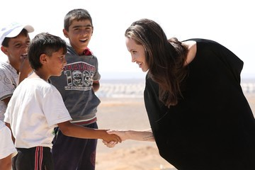 Angelina Jolie UNHCR Special Envoy Angelina Jolie Visits a Syrian Refugee Camp in Northern Jordan