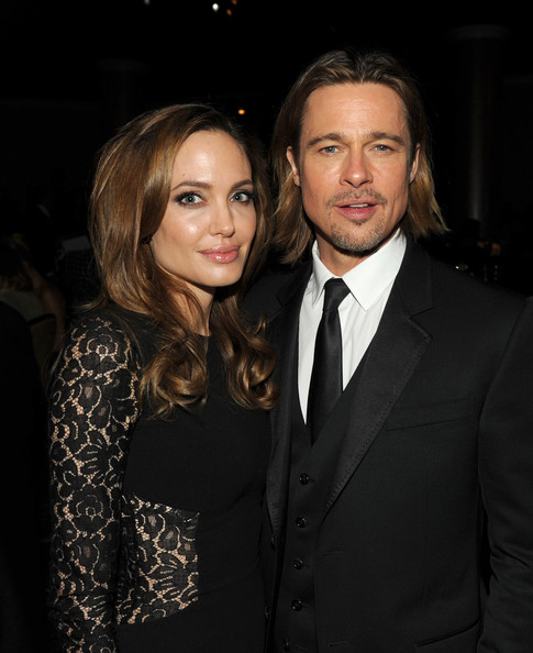 Angelina Jolie Actress/producer Angelina Jolie (L) and actor Brad Pitt attend the 23rd annual Producers Guild Awards at The Beverly Hilton hotel on January 21, 2012 in Beverly Hills, California.