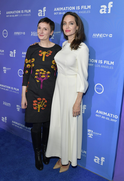 Angelina Jolie and Nora Twomey Photos Photos - Premiere of Gkids
