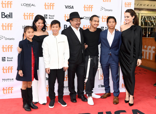 The World Premiere of Netflix's Film's 'First They Killed My Father' During the Toronto International Film Festival [first they killed my father,film,red carpet,carpet,event,premiere,flooring,angelina jolie,maddox jolie-pitt,pax jolie-pitt,rithy panh,l-r,world premiere of netflix,the toronto international film festival,world premiere]
