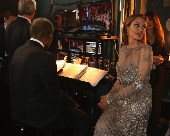 Backstage at the 86th Annual Academy Awards