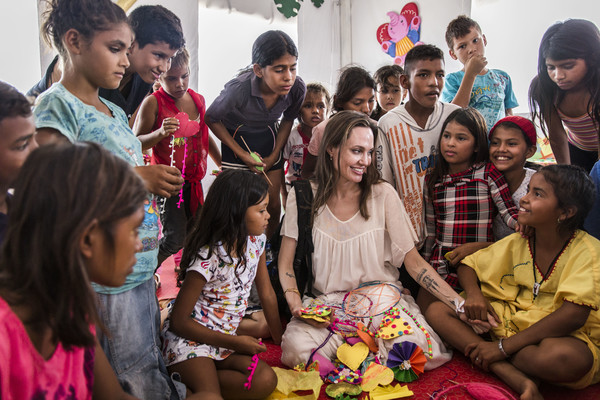 UNHCR Special Envoy Angelina Jolie Visits Colombia