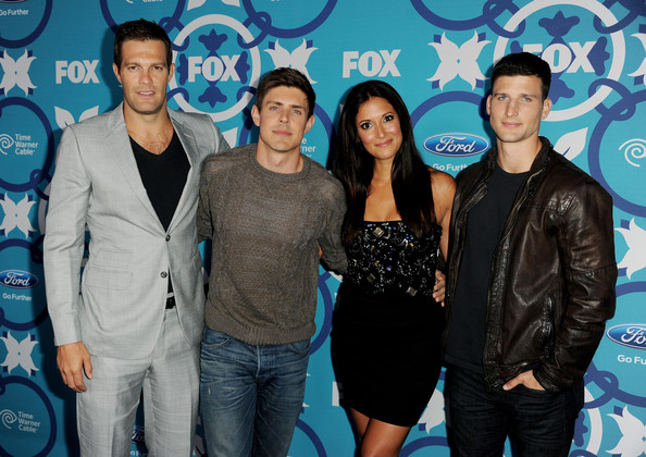 Arrivals at Fox Fall Eco-Casino Party [event,performance,premiere,style,actors,geoff stults,angelique cabral,parker young,chris lowell,l-r,santa monica,california,the bungalow,fox fall eco-casino party]