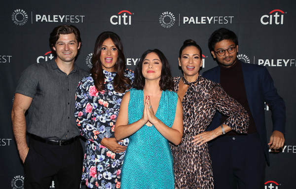 The Paley Center For Media's 2019 PaleyFest Fall TV Previews - Amazon - Arrivals [paleyfest fall tv previews,event,premiere,performance,fashion design,arrivals,constance marie,siddharth dhananjay,angelique cabral,kevin bigley,rosa salazar,l-r,paley center for media,amazon]