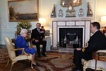 Angus Essenhigh Queen Elizabeth II Holds Private Audience In Buckingham Palace