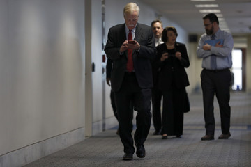 Angus King Senate Select Intelligence Committee Meets on Capitol Hill